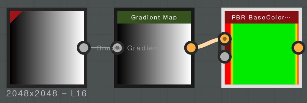 Gradient Map  O —S-i-mO Gradier  L 16  PBR Basecolor•••  O