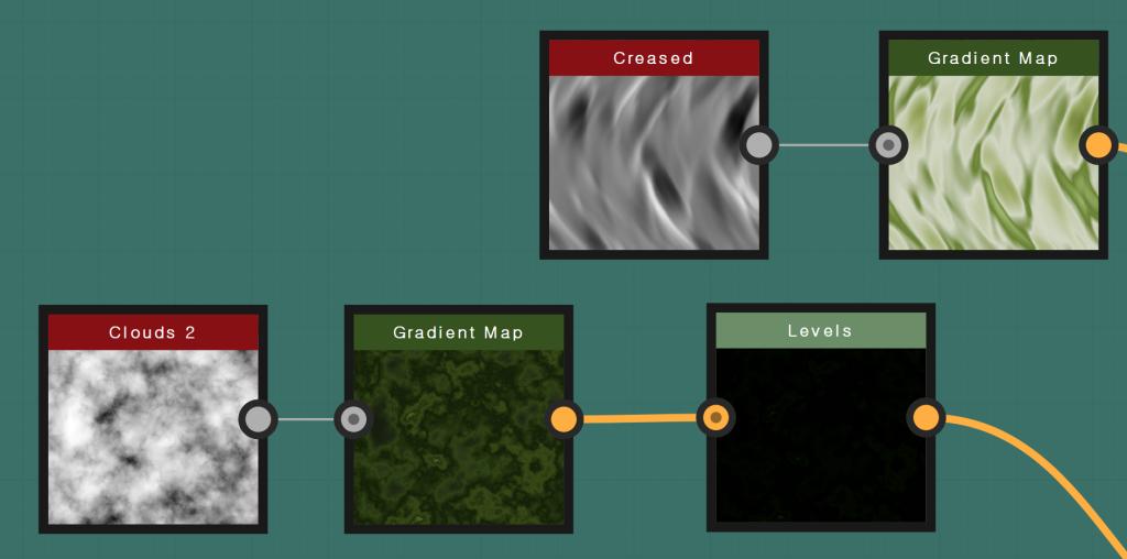 Creased  Gradient Map
