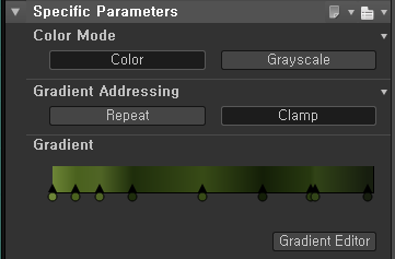 Specific Parameters  Color Mode  Gradient Addressing  Gradient  Grayscale  Gradient Editor