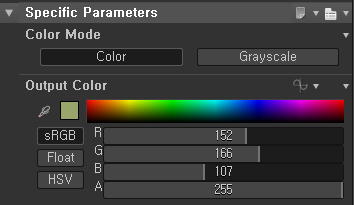 Specific Parameters  Color Mode  Grayscale  Output Color